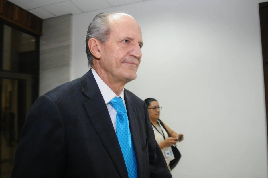 Flavio Montenegro, exgerente del Banco G&T Continental, se presentó este miércoles ante el Juez. (Foto: Alejandro Balan/Soy502)