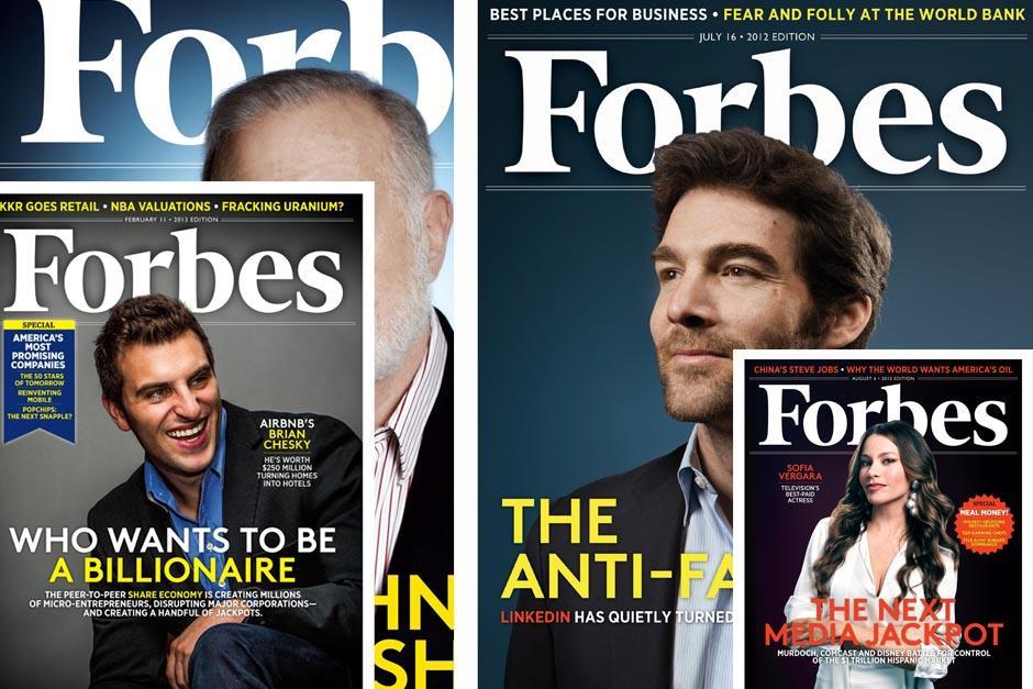 Forbes es una revista especializada en dinero, economía y negocios; famosa por sus listados de millonarios