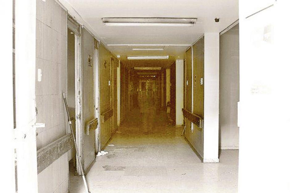 En el antiguo edificio se captó una imagen donde se puede ver un fantasma. (Foto: chilevision)