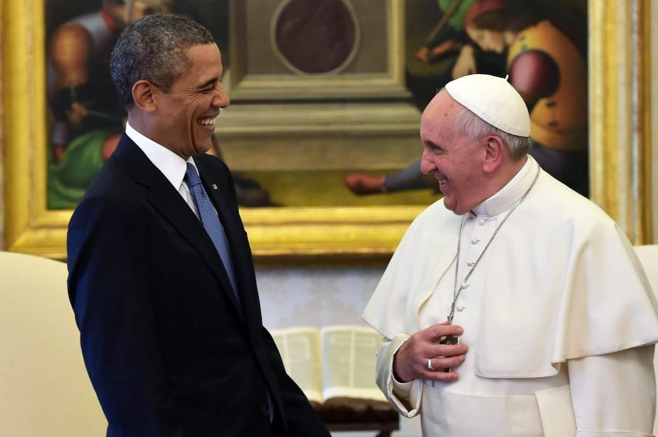 El Papa Francisco y Barack Obama sostuvieron una reunión este jueves 27 de marzo en el Vaticano. (Foto: EFE)