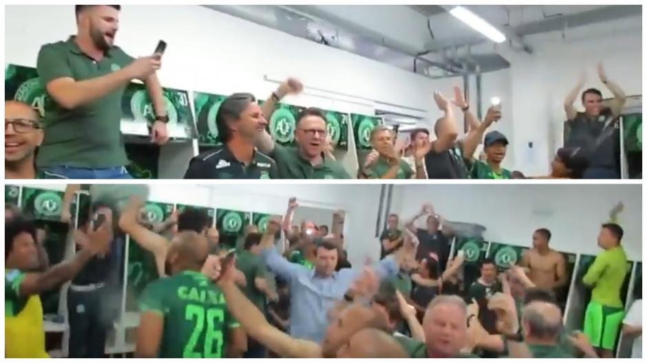 Capturas de pantalla del video donde se les ve festejando. (Foto: Captura de pantalla)