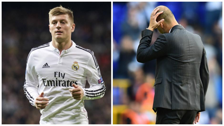 Pep Guardiola quería reunirse con Kroos. (Fotos: AFP/The Guardian)