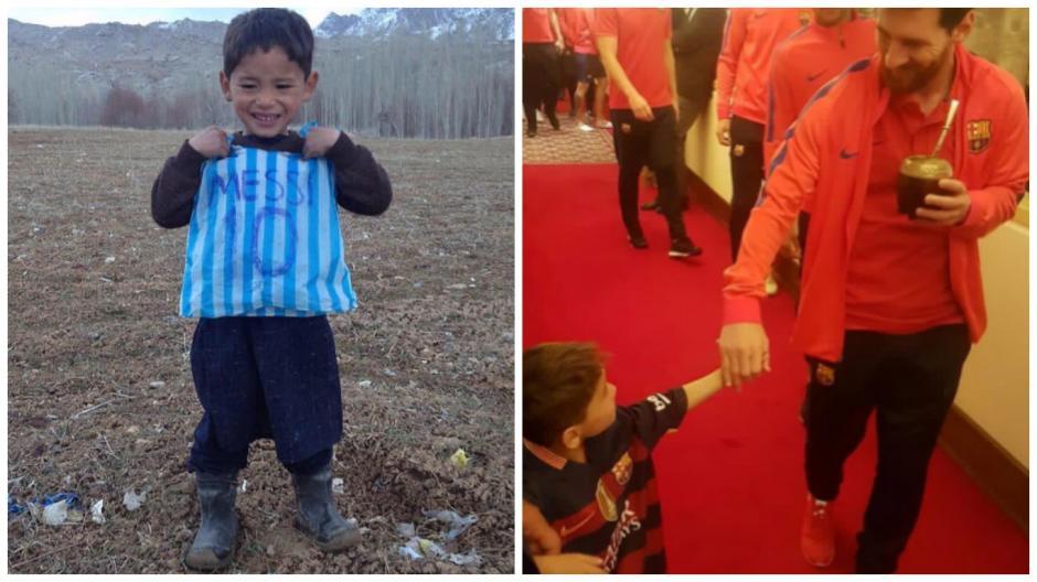 Messi conoció en Catar al pequeño Murtaza. (Imagen: capturas de pantalla)