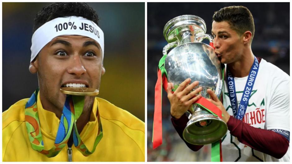 Ney y Cris conquistaron títulos con sus selecciones. (Fotos: AFP)