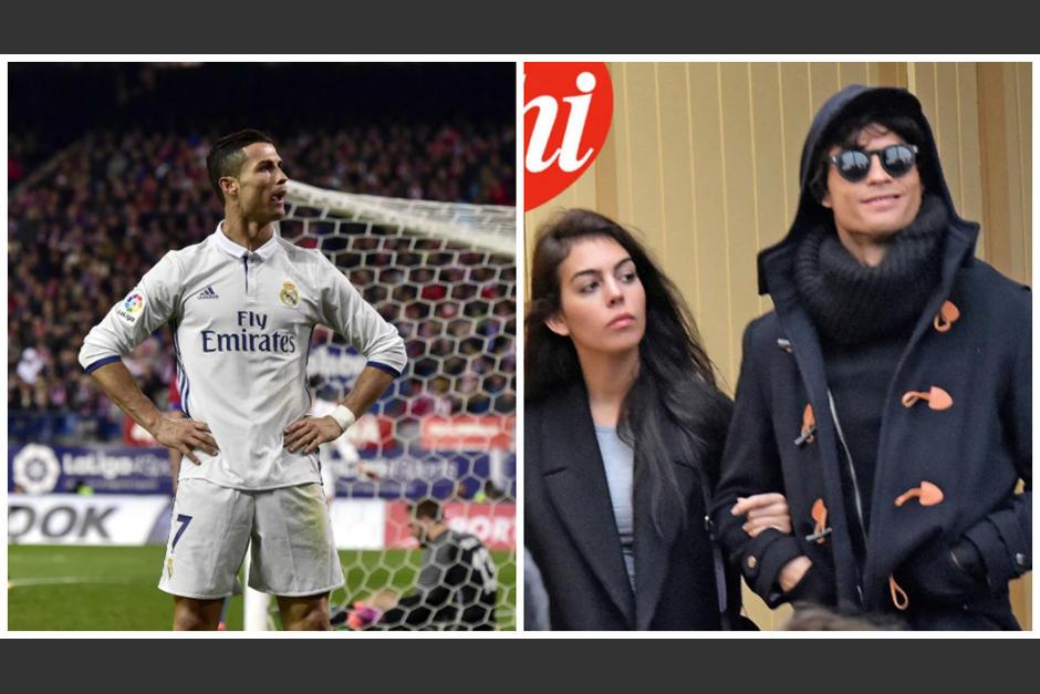 Un fotógrafo captó a Cristiano en Paris con su novia española. (Fotos: Chi/AFP)