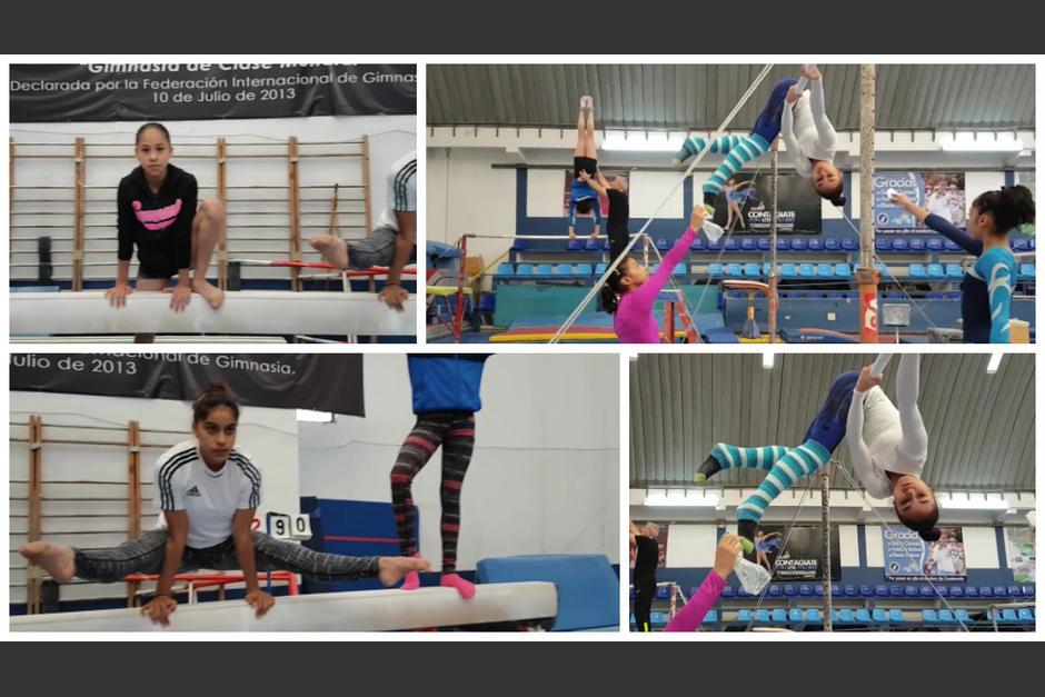 El Mannequin Challenge de las chicas de gimnasia. (Imagen: capturas de pantalla)