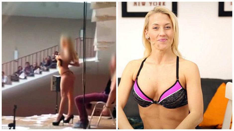 La stripper se llama Jarly y ahora tiene un videoblog dedicado a jóvenes. (Foto: infobae.com)