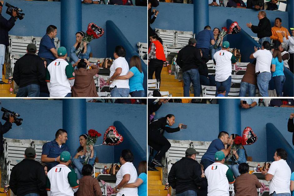 La secuencia de fotografías del compromiso en el Mateo Flores. (Fotos: Francisco Nieves/Comunicaciones)