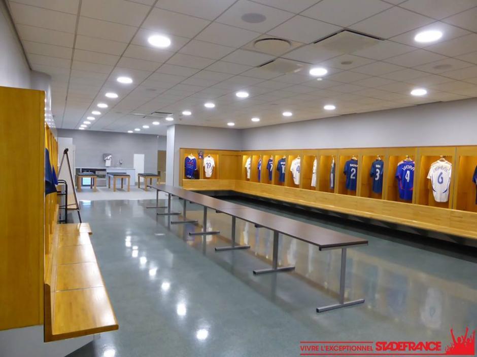 Área de vestidores del Stade de France. (Foto: Facebook/Stade de France)