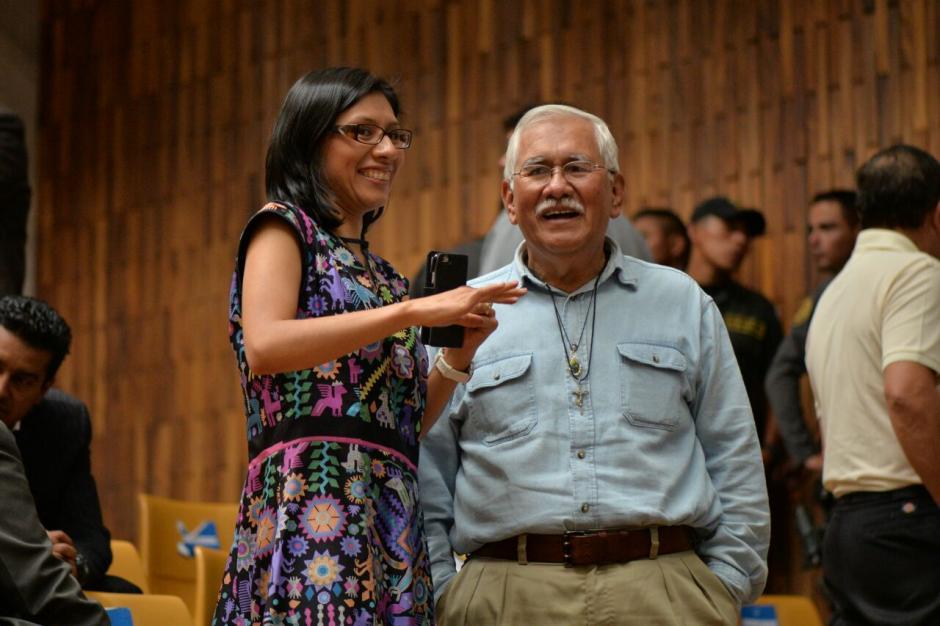 A Barrientos lo defiende también su hija llamada Elena. (Foto: Wilder López/Soy502)