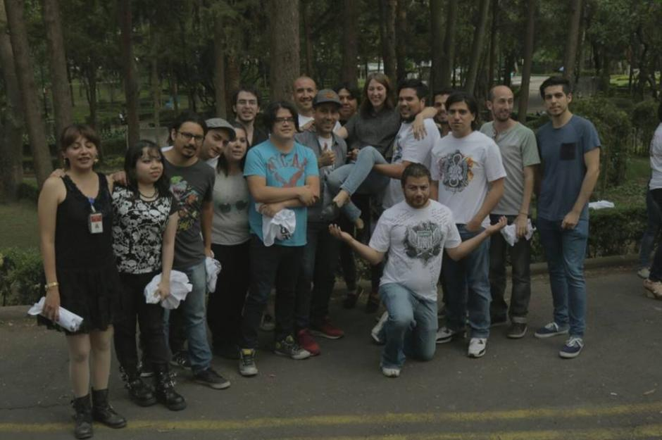 Este es el equipo completo de efectos especiales de Suicide Squad en México. (Foto: Franz Álvarez)