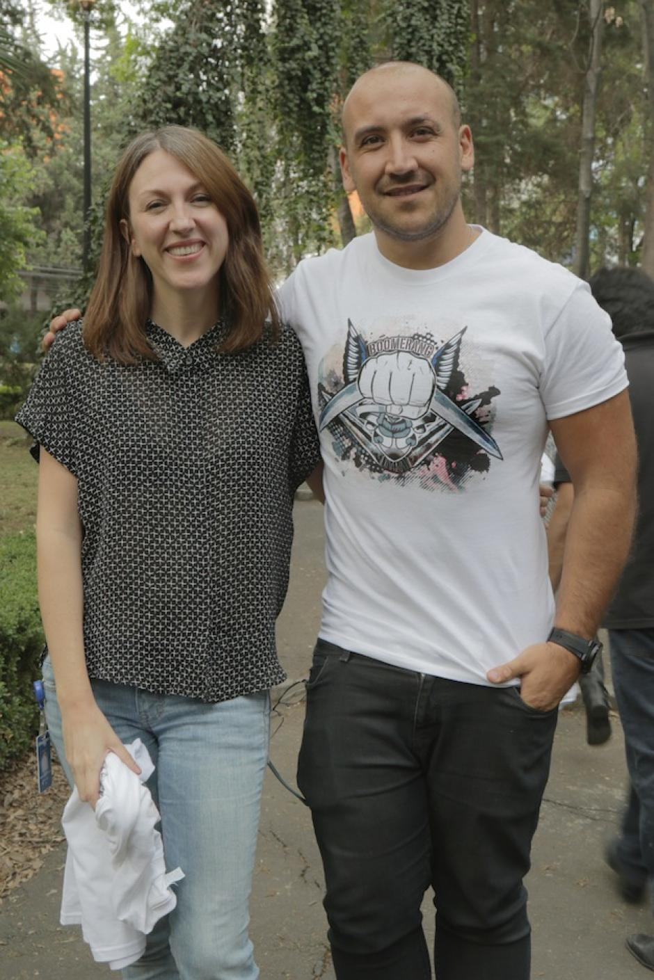 Franz comparte junto a Natalia de la Garza, supervisora de efectos de Suicide Squad en México. (Foto: Franz Álvarez)