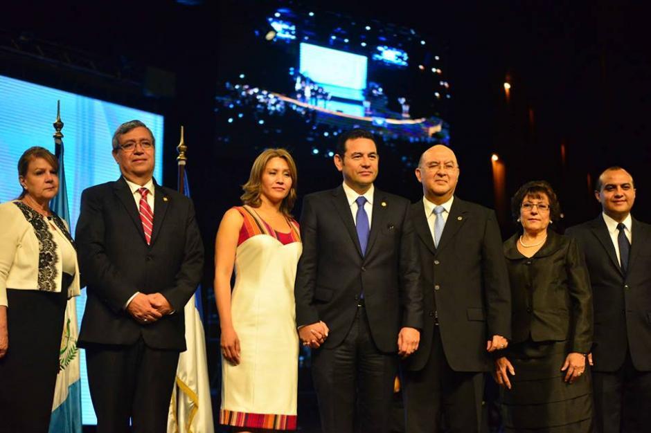 La primera Dama acompaña a Jimmy Morales a los actos públicos. (Foto: Jesús Alfonso/Soy502)