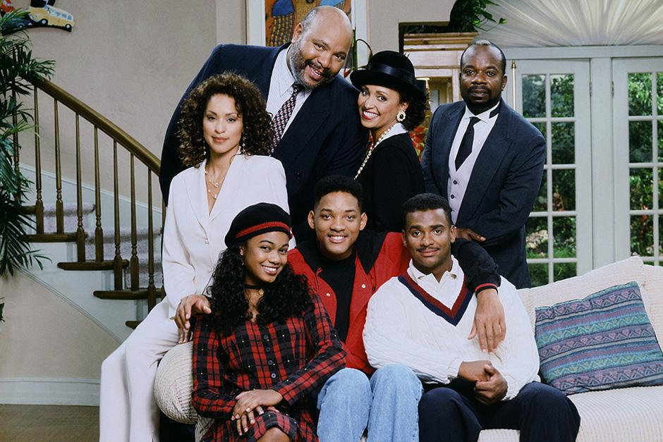 "El elenco del ""Príncipe del Rap"", serie que se estrenó en 1990"