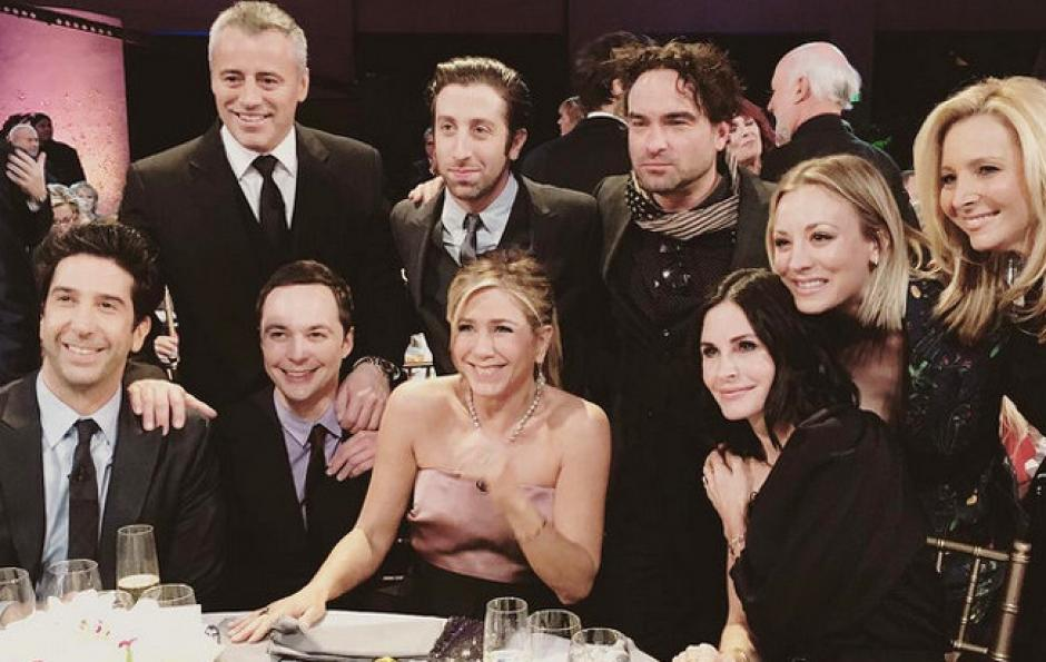 """Los protagonistas de """"Friends"""", durante su reencuentro. (Foto: Instagram/normancook)"""