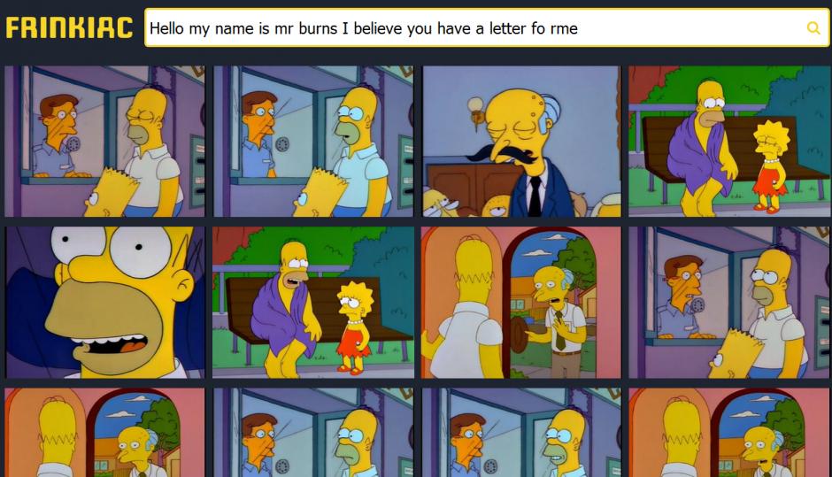 """Encuentra miles de fotogramas de """"Los Simpson"""" en esta página web. (Foto:venturebeat.com)"""