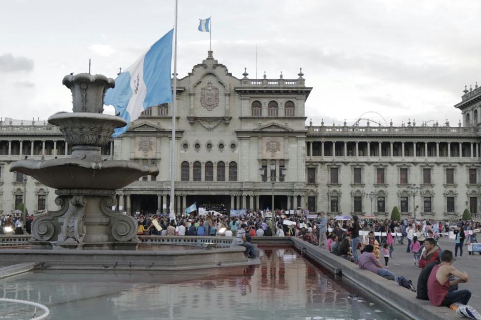 Esta es la panorámica del Parque Central en Guatemala. (Foto: Alejandro Balan/Soy502)