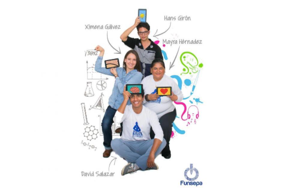 Mayra Hernández, David Salazar, Ximena Gálvez y Hans Rácanac impulsan el programa Despertar el conocimiento. (Foto: UVG)