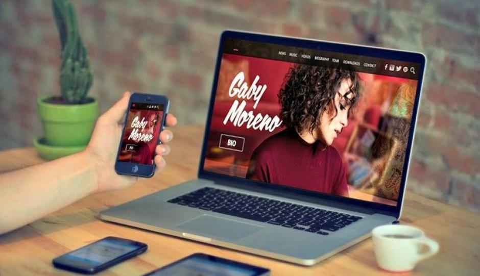 Gaby también estrena nueva página. (Foto: Gaby Morneo)