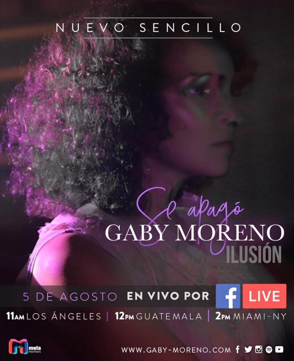 Este es el promocional para ve a Gaby Moreno. (Foto: Gaby Morenoo)