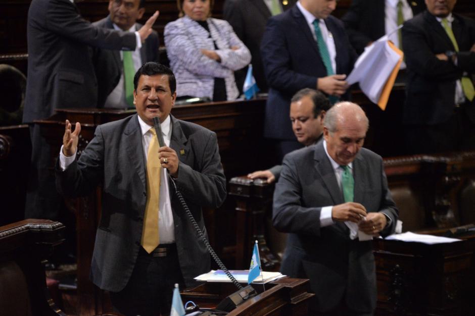 El diputado oficialista Estuardo Galdámez . (Foto: Wilder López/Soy502)