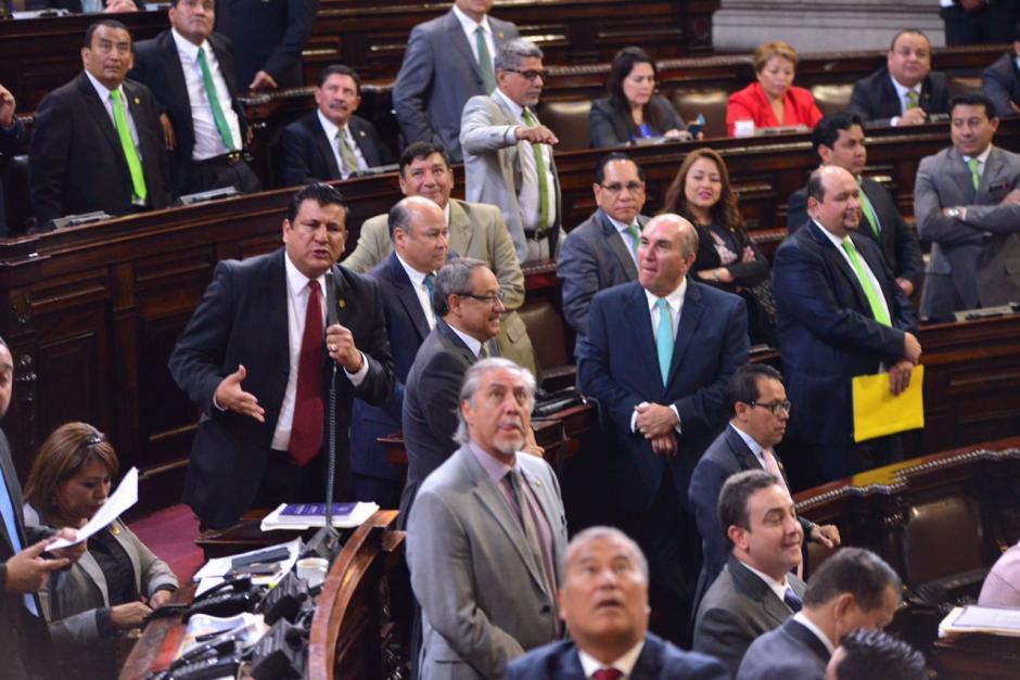 Diputados de FCN y UNE mostraron nuevamente sus diferencias. (Foto: Jesús Alfonso/Soy502)