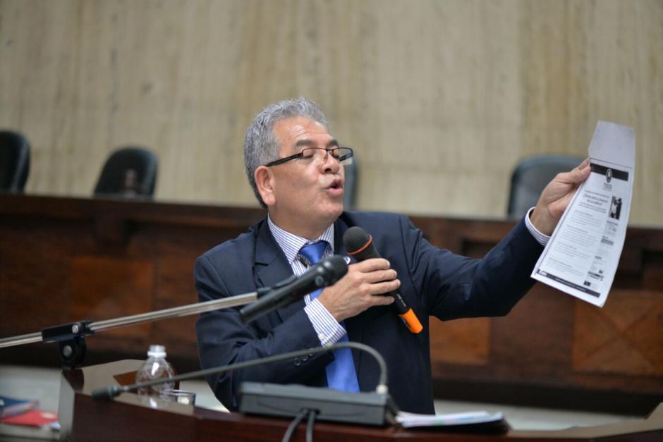 En sus argumentos expone todo lo relacionado a las pruebas del caso. (Foto: Wilder López/Soy502)