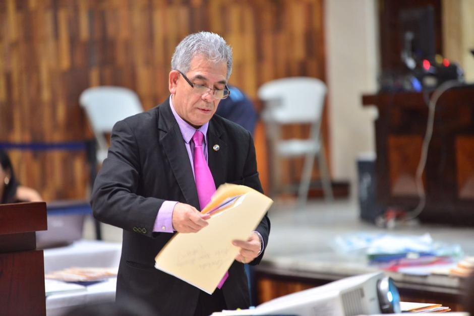 El juez Miguel Ángel Gálvez suma su cuarto día de exposición. (Foto: Jesús Alfonso/Soy502)