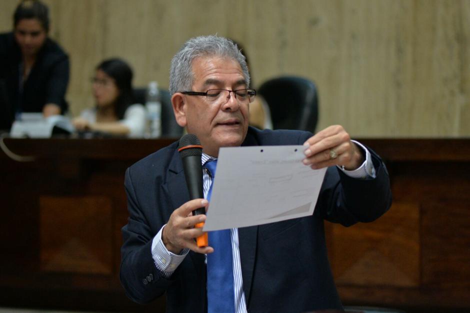 El juez Miguel Ángel Gálvez expone en el caso Cooptación del Estado. (Foto: Wilder López/Soy502)