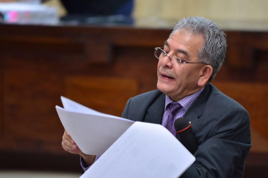 El juez dijo también que Mencos había sido nombrado en otros casos. (Foto: Jesús Alfonso/Soy502)