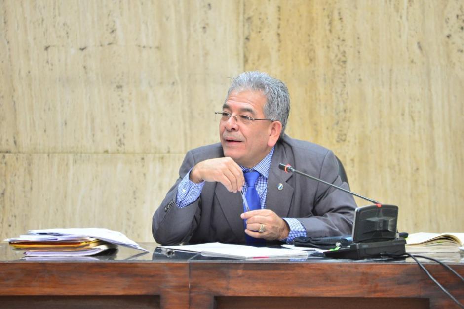 El juez Miguel Ángel Gálvez habló al finalizar la audiencia. (Foto: Jesús Alfonso/Soy502)