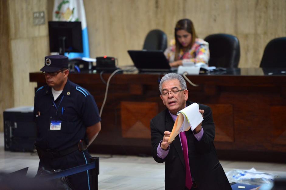 La Sala de Vistas de la Corte Suprema de Justicia escucha a Gálvez. (Foto: Jesús Alfonso/Soy502)