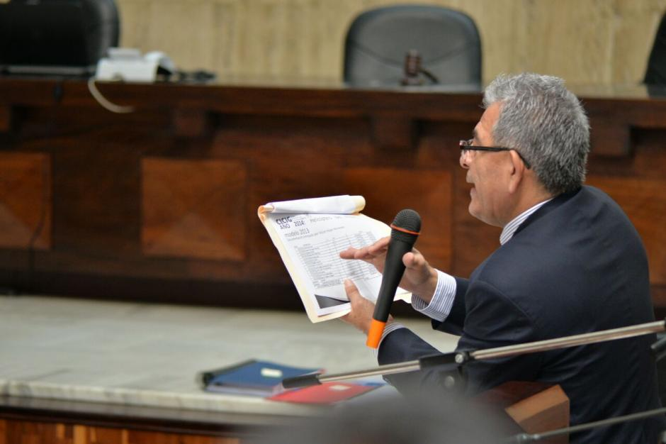 El juez Miguel Gálvez ha tomado la palabra en el caso. (Foto: Wilder López/Soy502)