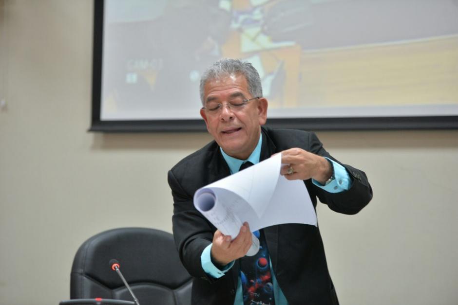 El juez lo utilizó para argumentar todo lo que ha sucedido durante el caso La Línea. (Foto: Wilder López/Soy502)