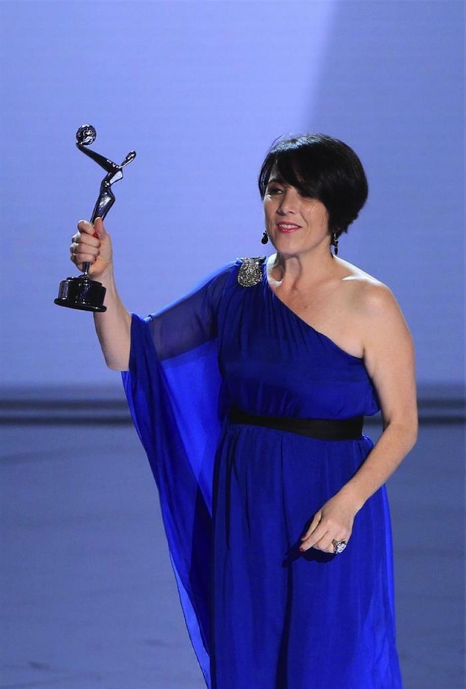 """Paula García se llevó la estatuilla plateada a """"Mejor actriz"""" por su interpretación en """"Gloria"""". (Foto: EFE)"""