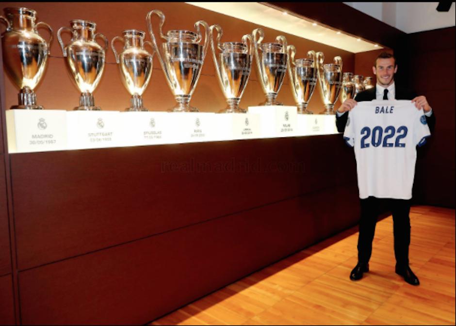 Bale estará ligado al Real Madrid hasta 2022. (Foto: Twitter/@RealMadrid)