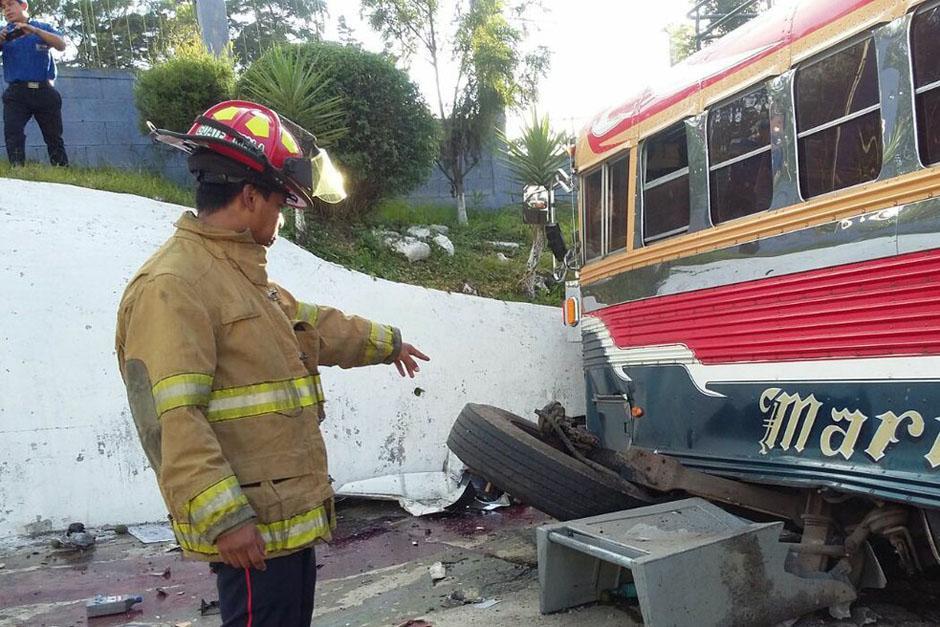 Los bomberos departamentales reportaron 8 personas heridas. (Foto: Bomberos Departamentales)