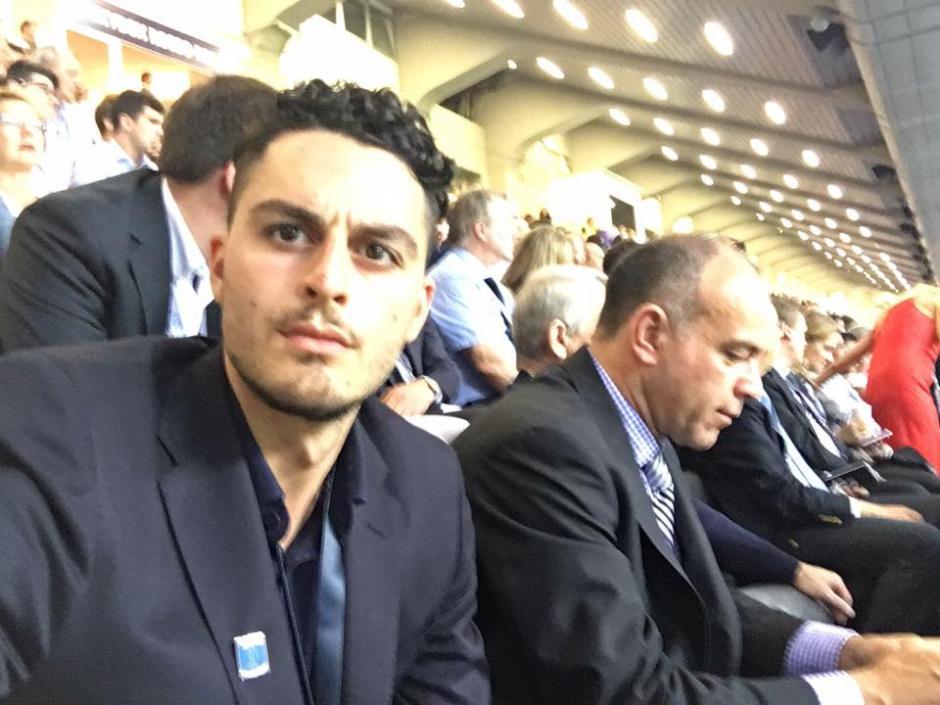 El siciliano de 23 años aprovechó a tomarse fotos durante su hazaña. (Foto: Facebook/Gaspare Galasso)