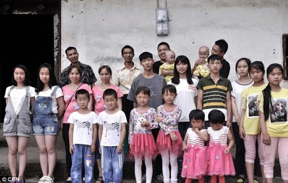 Qingyuan es un pueblo donde hay 367 casas y tiene 39 parejas de gemelos. (Foto: DailyMail)
