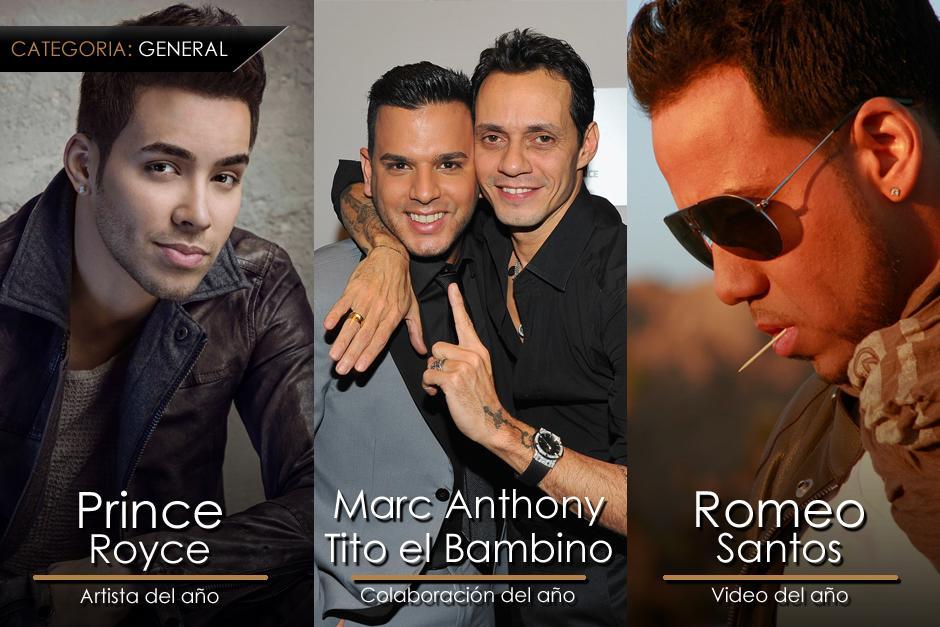 Estos son los ganadores más destacados de la categoría General en los Premios Lo Nuestro. (Imagen: Gerardo Calderón/Soy205)