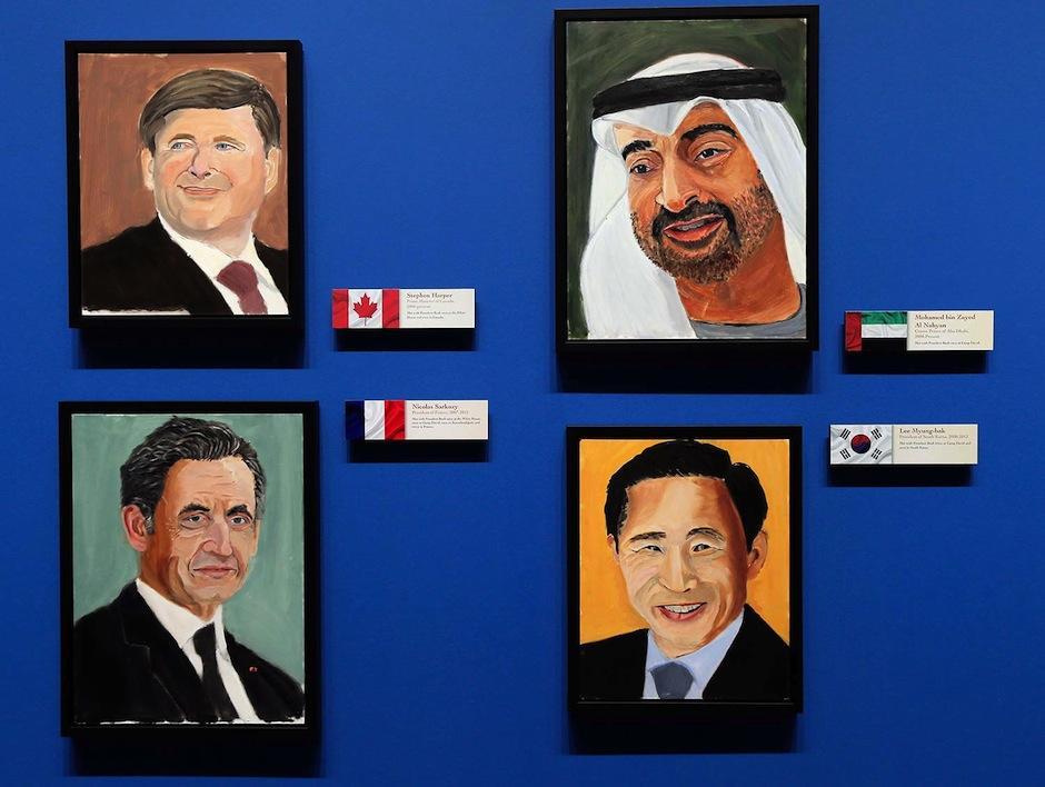 Bush espera que los líderes vean sus retratos, hechos, según expresa, con mucho cariño. (Foto: El Mundo)