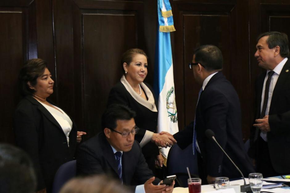 La magistrada habló durante dos horas en las que se refirió poco a los señalamientos en su contra. (Foto: Alejandro Balán/Soy502)