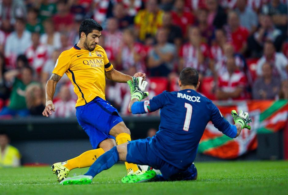 Luis Suárez y el FC Barcelona no lucieron frente al Bilbao en la ida de Supercopa de España. (Foto: Getty)