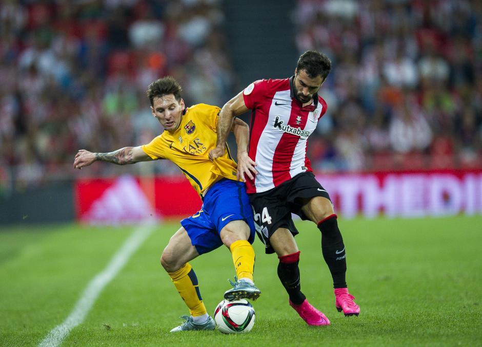 Lio Messi estuvo muy lejos de la portería del Bilbao en la ida de la Supercopa de España. (Foto: Getty)