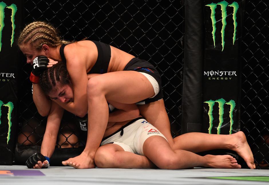Paige VanZant se transforma cuando sube el octágono.