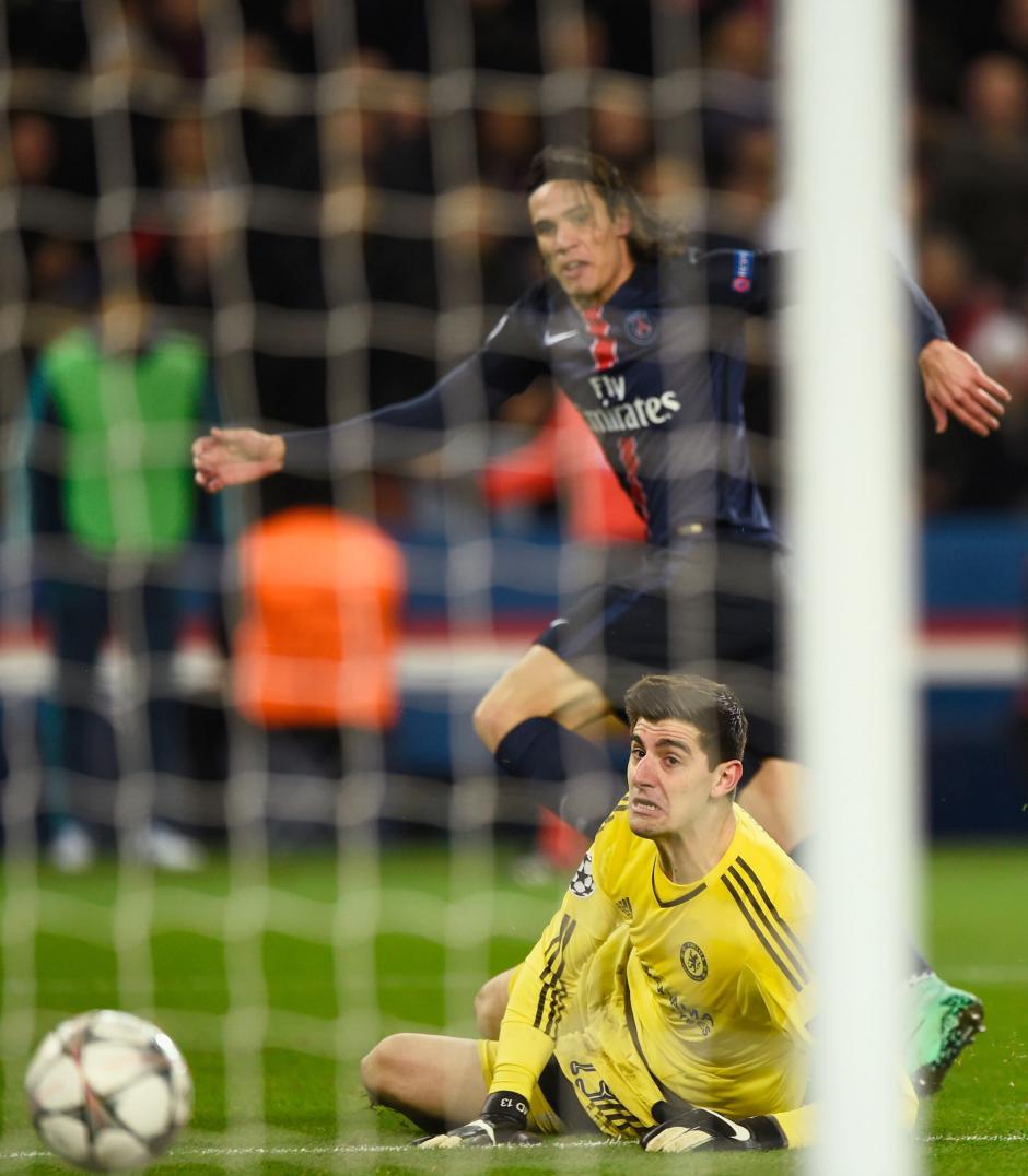 Así fue el gol de Cavani. (Foto: Getty)
