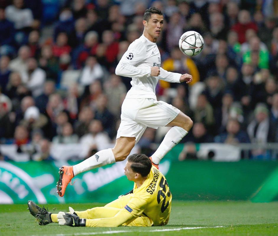 CR7 marco el primer gol contra la Roma. (Foto: Getty)