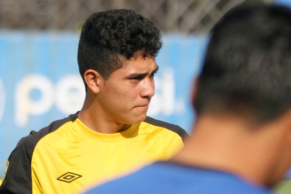 Gilder Lemus no ocultó su ilusión por estar en la Selección mayor. (Foto: Luis Barrios/Soy502)