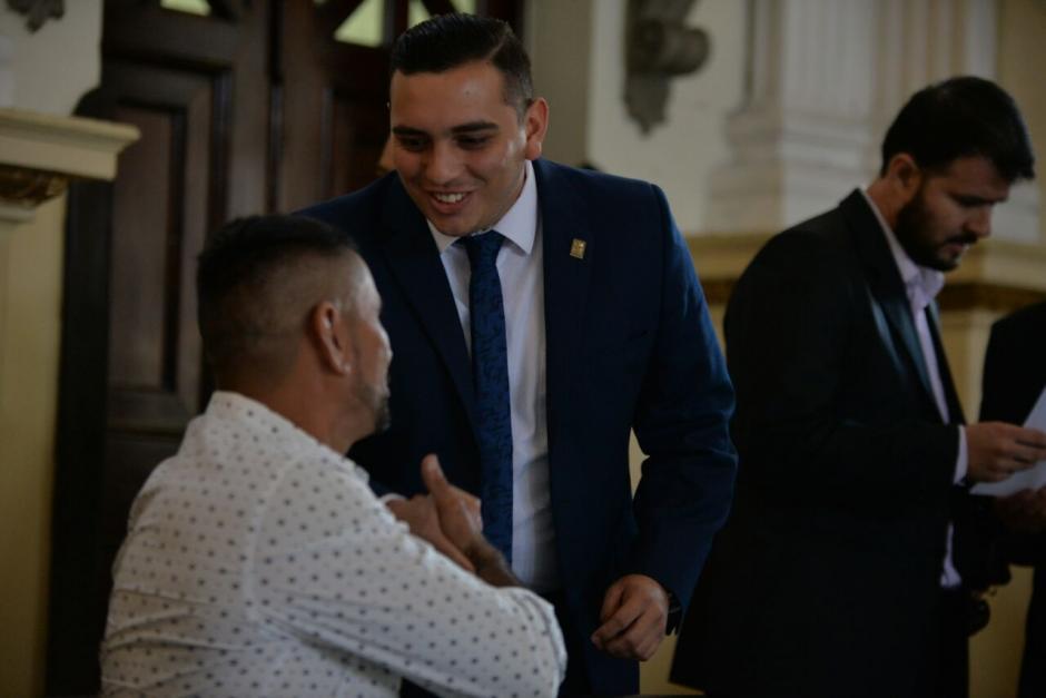 El alcalde de Ipala acudió al Congreso este miércoles. (Foto: Wilder López/Soy502)