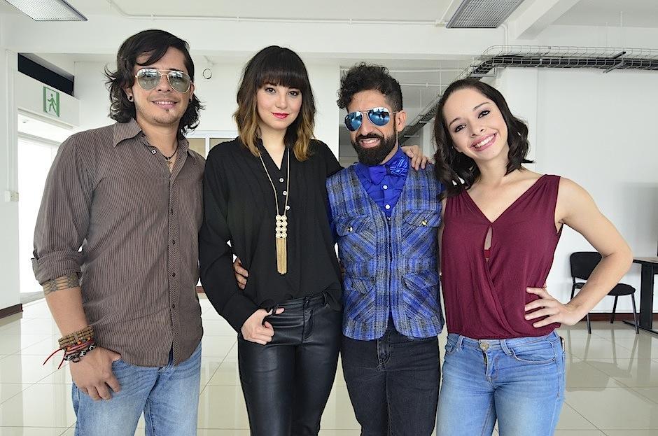 """Tavo, Kim, Deryc y Wendy te invitan a disfrutar de """"Godspell"""". (Foto: Selene Mejía/Soy502)"""
